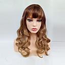 preiswerte Modische Ohrringe-Synthetische Perücken Locken Blond Synthetische Haare Blond Perücke Damen Medium Kappenlos