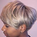 olcso Emberi hajból készült parókák-Emberi hajszelet nélküli parókák Emberi haj Egyenes Hot eladó / Oldalsó rész Rövid Géppel készített Paróka Női