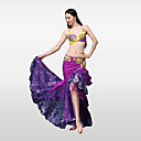 cheap Belly Dance Wear-Belly Dance Outfits Women's Performance Cotton Polyester Crystals / Rhinestones Ruffles Skirts Bra