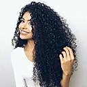 olcso Emberi hajból készült parókák-Emberi haj Csipke eleje Paróka Brazil haj Göndör Paróka 130% Haj denzitás baba hajjal 100% Szűz A feldolgozatlan Női Hosszú Emberi hajból készült parókák