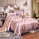 preiswerte Luxus Duvet Covers-Bettbezug-Sets Luxus 4 Stück Modal lyocell Jacquard Modal lyocell 1 Stk. Bettdeckenbezug 2 Stk. Kissenbezüge 1 Stk. Betttuch
