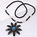 cheap Necklaces-Women's Long Pendant Necklace - Resin Floral / Botanicals, Flower European, Fashion White, Black Necklace Jewelry For Daily