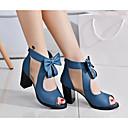 preiswerte Parykopfbedeckungen-Damen Schuhe Nubukleder Frühling / Herbst Pumps Sandalen Schleife Schwarz / Blau