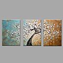 voordelige Schilderijen van bloemen/planten-Hang-geschilderd olieverfschilderij Handgeschilderde - Landschap Klassiek / Modern Kangas