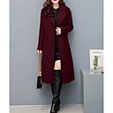cheap Women's Boots-Women's Simple / Casual Coat - Solid Colored, Stylish