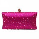 cheap Backpacks-Women's Bags Polyester Evening Bag Crystals Dark Blue / Yellow / Fuchsia