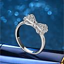 cheap Earrings-Women's Cubic Zirconia Band Ring / Engagement Ring - Cubic Zirconia, Silver 6 / 7 / 8 Silver For Wedding / Evening Party