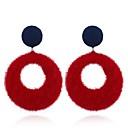 povoljno Modne naušnice-Žene Viseće naušnice dame Vintage Naušnice Jewelry Sive boje / Crvena / Tamno mornarice Za Party Dnevno Dvije plohe