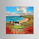 preiswerte Stillleben Gemälde-Hang-Ölgemälde Handgemalte - Landschaft Modern Segeltuch