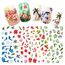 cheap Rhinestone & Decorations-1 pcs Full Nail Stickers nail art Manicure Pedicure Fashionable Design Flower / Nail Decals Daily