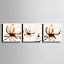 abordables Adhesivos de Pared-Abstracto Tres Paneles Lona Horizontal Panorámico Estampado Decoración de pared Decoración hogareña