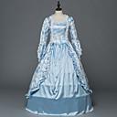 Χαμηλού Κόστους Περούκες Cosplay Ανιμέ-Rococo Victorian Στολές Γυναικεία Κοστούμι πάρτι Χορός μεταμφιεσμένων Μπλε Πεπαλαιωμένο Cosplay Ελαστικό Σατέν Σατέν Μακρυμάνικο Μακρύ Κοστούμια Halloween / Φλοράλ
