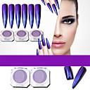 preiswerte Nagel-Funkeln-1pc Acrylpulver / Puder / Glitzerpulver Spiegeleffekt / Strahlend & Funkelnd Nagel-Kunst-Design