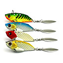 cheap Fishing Lures & Flies-4 pcs Hard Bait Metal Sea Fishing Fly Fishing Bait Casting Spinning Jigging Fishing Freshwater Fishing General Fishing Lure Fishing Carp
