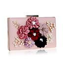 cheap Backpacks-Women's Bags PU(Polyurethane) Evening Bag Appliques / Flower Black / Red / Blushing Pink