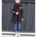 זול ג'קטים ומעילים לבנים-בנים קלסי ונצחי מכנסיים - דפוס סגנון אמנותי / דפוס שחור