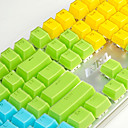 cheap USB Cables-AJ Crystal Mechanical Keyboard Key Cap 104 All-Key Two-Color Transparent Color Key Hat Polychromatic Optional