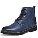 cheap Men's Boots-Men's Combat Boots Cowhide Fall / Winter Comfort Boots Gray / Brown / Blue