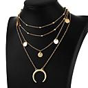olcso Divat nyaklánc-Női Réteges Rövid nyakláncok / Függők - MOON Egyszerű, Divat, Többrétegű Arany, Ezüst Nyakláncok Ékszerek Kompatibilitás Ajándék, Napi, Estély