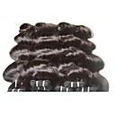tanie Dopinki w naturalnych kolorach-Remy Włosy brazylijskie Człowieka splotów włosów Przedłużanie włosów Czarny