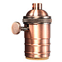 cheap Lighting Accessories-Red Bronze E26/ E27 Industrial Light Socket Metal Shell Vintage Edison Pendant lamp Metal holder With Knob switch