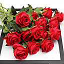 cheap Artificial Flower-Artificial Flowers 5 Branch Wedding / European Style Roses Tabletop Flower