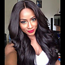 cheap Human Hair Wigs-Remy Human Hair Glueless Lace Front / Lace Front Wig Chinese Hair Body Wave Wig With Baby Hair 130% Natural Hairline / African American Wig / 100% Virgin Women's Medium Length / Long Human Hair Lace