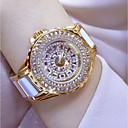 billige Sakse og negleklippere-Dame Armbåndsur Diamond Watch guld ur Japansk Quartz Rustfrit stål Keramik Hvid / Sølv / Guld 30 m Afslappet Ur Analog Damer Vedhæng - Guld Sølv Rose Guld
