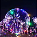 billige Ballonger-3M LED-belysning Ballonger LED-ballonger Ferie Romantik Fødselsdag Lighting Gjenfyllingsbare lightere Selvlysende Oppblåsbar Super Lett