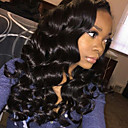cheap Human Hair Wigs-Human Hair Glueless Lace Front Lace Front Wig Brazilian Hair Body Wave Wig 150% Density with Baby Hair Natural Hairline Women's Long Human Hair Lace Wig ELVA HAIR