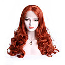 cheap Synthetic Lace Wigs-Synthetic Lace Front Wig Women's Body Wave Red with Baby Hair Synthetic Hair Red Wig Medium Length Lace Front Orange EEWigs