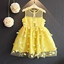 preiswerte Kleider für Mädchen-Baby Mädchen Geburtstag Ausgehen Solide Ärmellos Baumwolle Kleid Gelb / Niedlich / Prinzessin