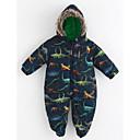 preiswerte Kleidersets für Mädchen-Baby Einzelteil Muster Tierfell-Druck Baumwolle Winter Langarm Marineblau