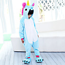 cheap Kigurumi Pajamas-Kid's Cosplay Costume Kigurumi Pajamas Unicorn Flying Horse Pony Onesie Pajamas Flannel Fabric Purple / Blue / Pink Cosplay For Boys and Girls Animal Sleepwear Cartoon Festival / Holiday Costumes