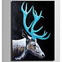baratos Pinturas Animais-Pintura a Óleo Pintados à mão - Animais Rústico Modern Tela de pintura