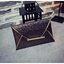 זול תיקי ערב וקלאצ'ים-בגדי ריקוד נשים שקיות PU תיק יד רוכסן שמפניה / זהב / שחור