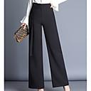זול נעלי עקב לנשים-בגדי ריקוד נשים Business מכנסיים - גיזרה גבוהה אחיד