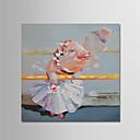 preiswerte Stillleben Gemälde-Hang-Ölgemälde Handgemalte - Tiere Modern Segeltuch