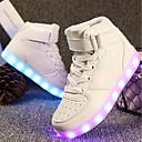 povoljno Dječje tenisice-Djevojčice Prilagođeni materijali / Umjetna koža Sneakers Mala djeca (4-7s) / Velika djeca (7 godina +) Udobne cipele / Svjetleće tenisice Hodanje Vezanje / Kopčanje na kukicu / LED Crvena / Plava