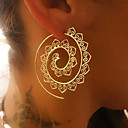 cheap Night Lights-Women's Hoop Earrings - Wave Vintage Gold / Silver For Christmas Wedding Party