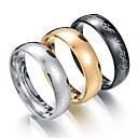 olcso Férfi gyűrűk-Férfi Band Ring - Rozsdamentes acél 7 / 8 / 9 / 10 / 11 Fekete / Ezüst / Aranyozott Kompatibilitás Esküvő Szerető