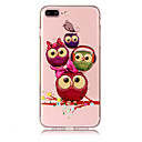 cheap Cell Phone Cases & Screen Protectors-Case For Apple iPhone X iPhone 8 Plus Transparent Pattern Back Cover Owl Soft TPU for iPhone X iPhone 8 Plus iPhone 8 iPhone 7 Plus