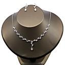 cheap Jewelry Sets-Women's Cubic Zirconia Jewelry Set - Zircon Flower Include White For Wedding / Party