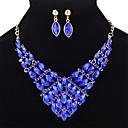 ieftine Pilotă florale-Pentru femei Cristal Geometric Set bijuterii - Cristal Modă Include Galben Deschis / Rosu / Albastru Pentru Nuntă Petrecere