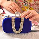 baratos Clutches & Bolsas de Noite-Mulheres Detalhes em Cristal Poliéster Bolsa de Festa Rhinestone Crystal Evening Bags Fúcsia / Vermelho / Azul