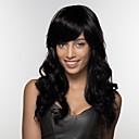 baratos Peruca para Fantasia-Perucas de cabelo capless do cabelo humano Cabelo Humano Onda de Corpo Parte lateral Longo Fabrico à Máquina Peruca Mulheres