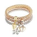 cheap Men's Necklaces-Men's Women's Charm Bracelet - Imitation Diamond Heart, Snowflake Classic, Fashion Bracelet Gold For Daily