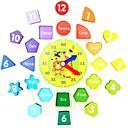 Недорогие Игрушка для обучения чтению-Деревянные часы / Обучающая игрушка Животный принт Для школы / Новый дизайн / Для детской Детские Подарок