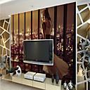 baratos Papel de Parede-Art Deco Padrão 3D Decoração para casa Moderna Rústico Modern Revestimento de paredes, Tela de pintura Material adesivo necessário Mural,