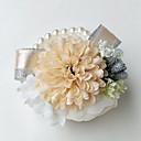 """זול פרחי חתונה-פרחי חתונה זר פרחים לפרק כף יד חתונה מסיבה / ערב פּוֹלִיאֶסטֶר 3.94""""(לערך.10ס""""מ)"""